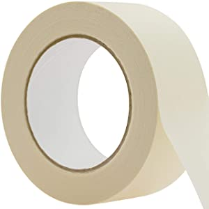 No-Residue 2 Inch, 60 Yard Masking Tape 1 Pk. Easy-Tear, Pro-Grade Removable Painters Tape Great for Home, Office or Commercial Contractor. Clean, Drip-Free Painting with Wide Crepe Paper Rolls