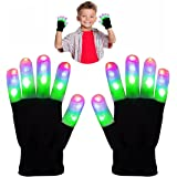 DMbaby LED Blinklicht Fingerlos Bunte Handschuhe - Beste Geschenke