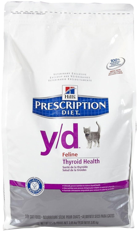 Amazon.com : Hills Prescription Diet y/d Feline Thyroid Health - 8.5lb : Dry Pet Food : Pet Supplies