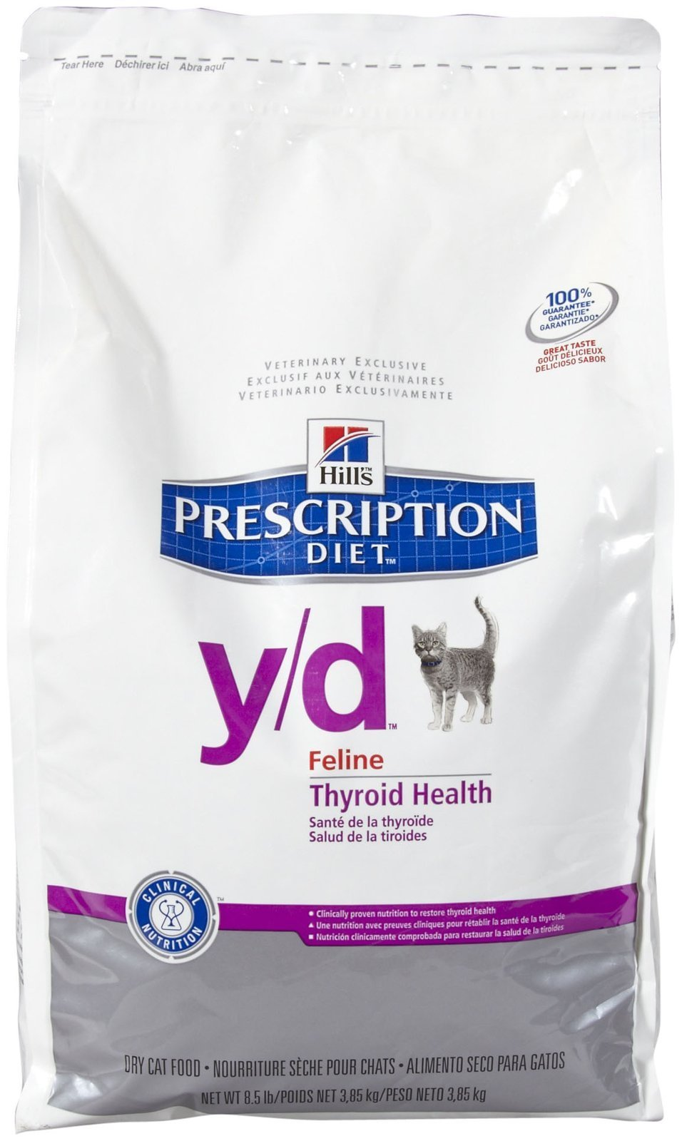 Hill'S Prescription Diet Y/D Feline Thyroid Health Dry Cat Food, 8.5-Lb Bag by HILL'S PRESCRIPTION DIET