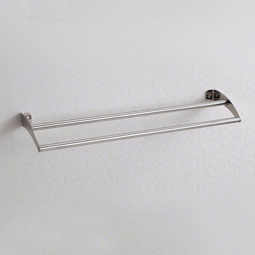HOMEE European Style Bathroom Stainless Steel Towel Pole Towel Rack Toilet Shelf,80cm by HOMEE