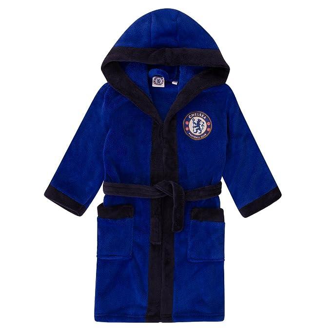 Chelsea FC - Batín oficial con capucha - Para niño - Forro polar: Amazon.es: Ropa y accesorios