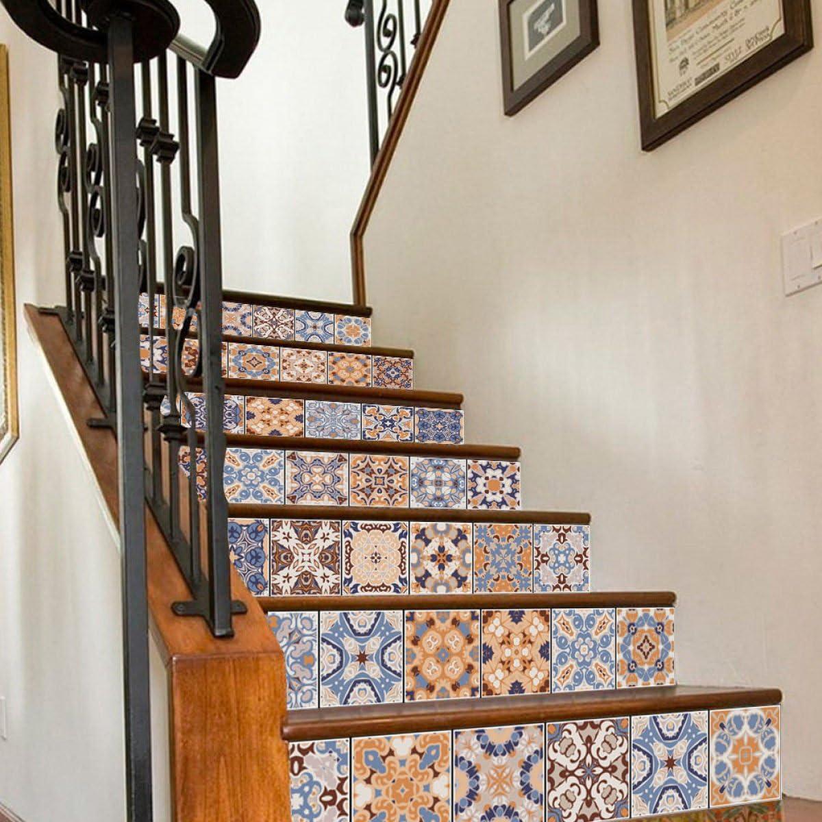 QTZS Etiqueta Engomada De La Escalera árabe Azulejo 3D Creativo Home Deco DIY Etiqueta De La Pared 6pcs: Amazon.es: Hogar