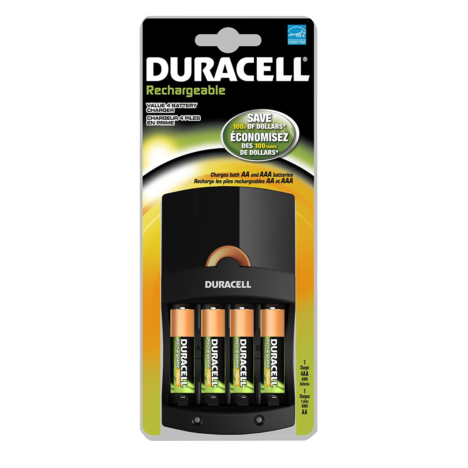 Amazon.com: Duracell Value Cargador con 4 pilas AA ...