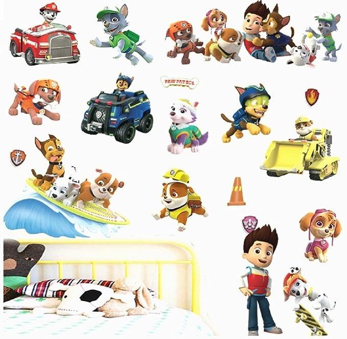 Zuma Skye Paw Patrol Chase Marshall Rocky Everest Lot de stickers muraux pour enfants
