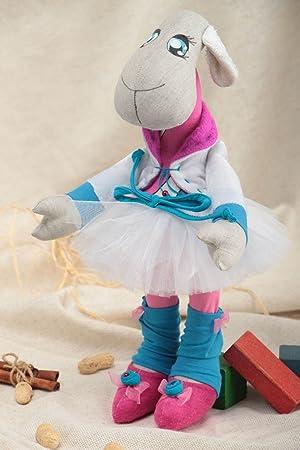 Muneco de peluche original hecho a mano bonito decorativo textil para ninos