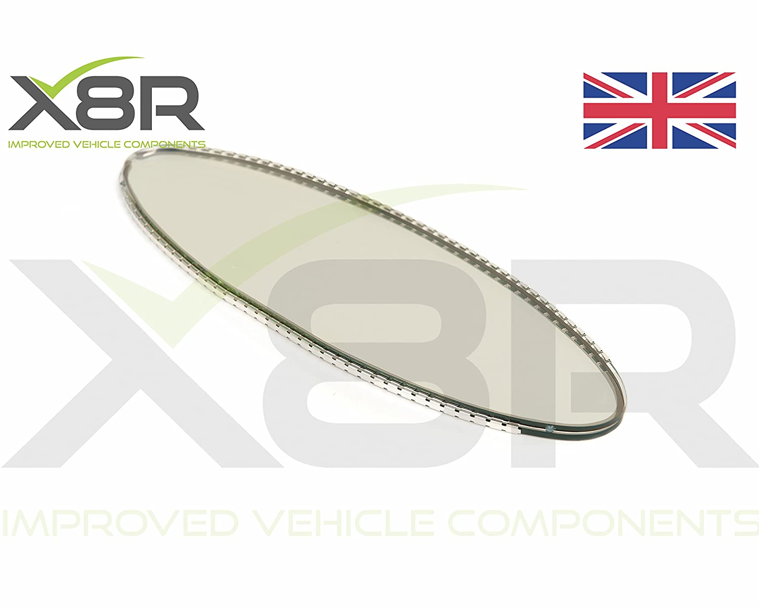 Oval Rear View Mirror Auto Dim Dimming Replacement Glass Cell X8R LTD