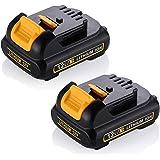 FLAGPOWER 12V MAX 2000mAh 2.0AH Li-ion Battery Power for DeWalt DCB120 DCB121 DCB123 DCB127 DCB127-2 DCD710(2 PACK)