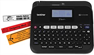 Brother P-touch, PTD450, PC-Connectable Label Maker, Split-Back Tapes, 7 Font Sizes, One-Touch Keys, Black