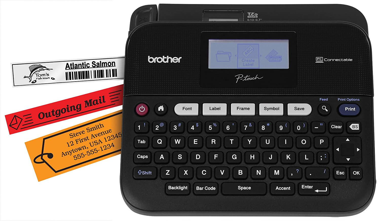 Color printing label maker - Amazon Com Brother P Touch Ptd450 Pc Connectable Label Maker Office Products