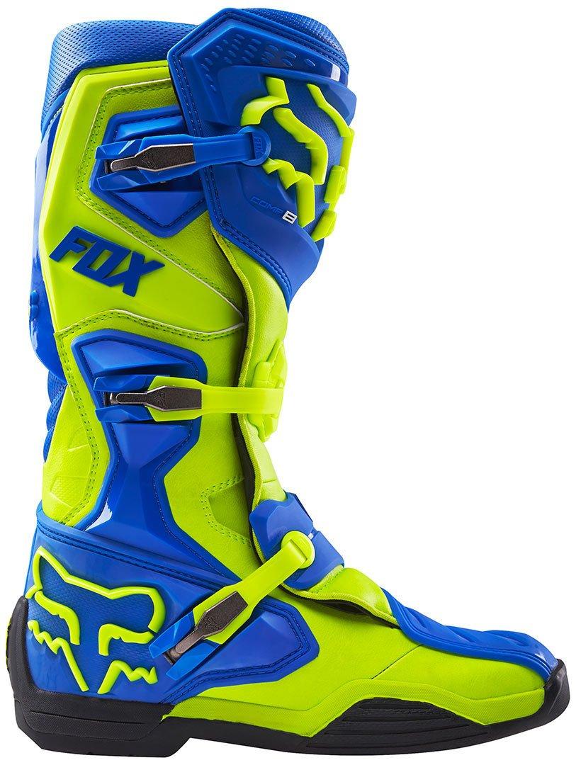 Fox Bottes de Motocross Comp 8/Bleu Marine//Blanc