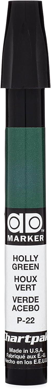 The Original Chartpak AD Marker, Tri-Nib, Holly Green, 1 Each (P22)