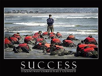 Success Poster Navy Seals Inspirational 18x24