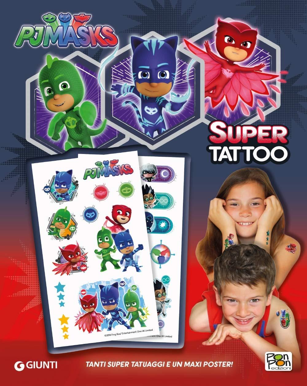 Super Tattoo. Pj Masks. Ediz. a colori : Amazon.es: Libros
