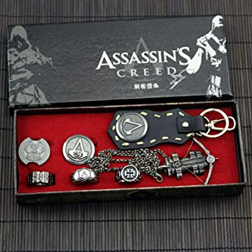 WCDP AssassinS Creed, Llavero de Cuero, Collar ...