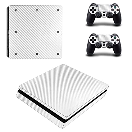 Ps4 Slim Sticker Console Decal Playstation 4 Controller Vinyl Skin White Faceplates, Decals & Stickers