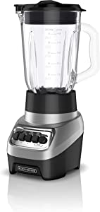BLACK+DECKER BL1230SG PowerCrush Multi-Function Blender with 6-Cup Glass Jar, 4 Speed Settings, Silver (Renewed)