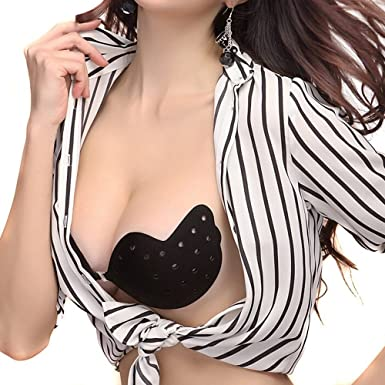 93d045e787724 Fletion Push Up Thin Self Adhesive Magic Bra Seamless Backless Strapless  Stick On Silicone Cleavage Bra