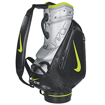 Amazoncom Nike Vapor Staff Golf Bag Blackvolt Silver Sports