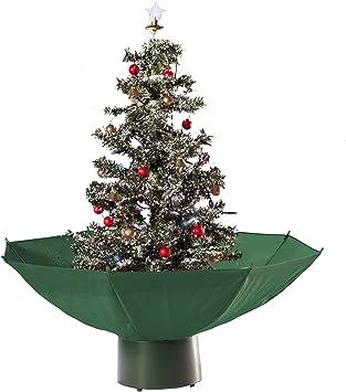 Künstlicher Schneiender Weihnachtsbaum Tannenbaum Christbaum 75cm beleuchtet