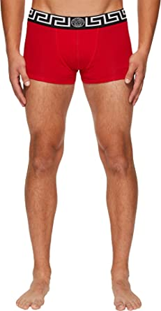 95f80af22a Amazon.com: Versace Men's Low Rise Trunks Red/White 5: Clothing