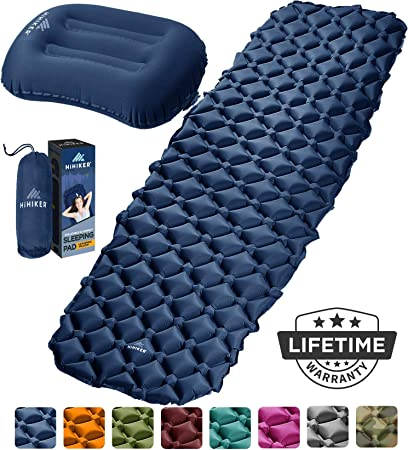 Air Inflatable Cushion Sleeping Pad Bed Camping Travel Mat Outdoor with Bag