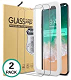 Bovon iPhone X Panzerglas Schutzfolie [2 Stück] [9H Gehärtetes Glas] [Hüllenfreundlich], Ultra Clear, Anti-Kratzer, Blasenfrei, Tempered Displayschutzfolie für iPhone X