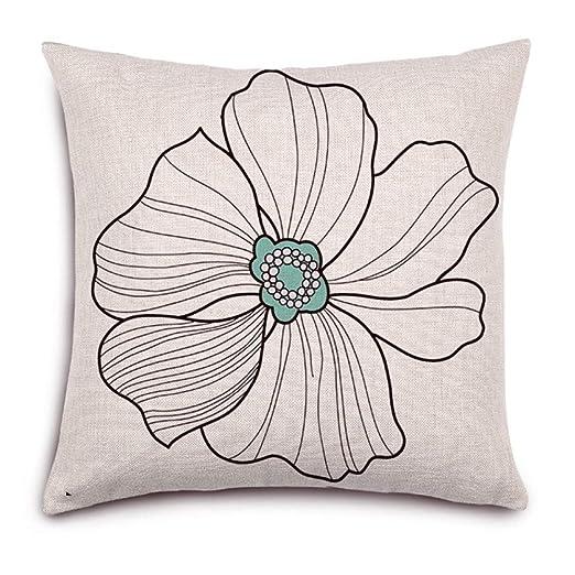 Cojín jardín viento cintura cojín estampado almohada algodón ...