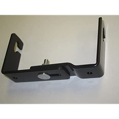 "Workman C-523 CB Radio Mini Mounting Bracket With Quick Release Adjustable 3-3/4"" to 4-3/4"" wide: Automotive"