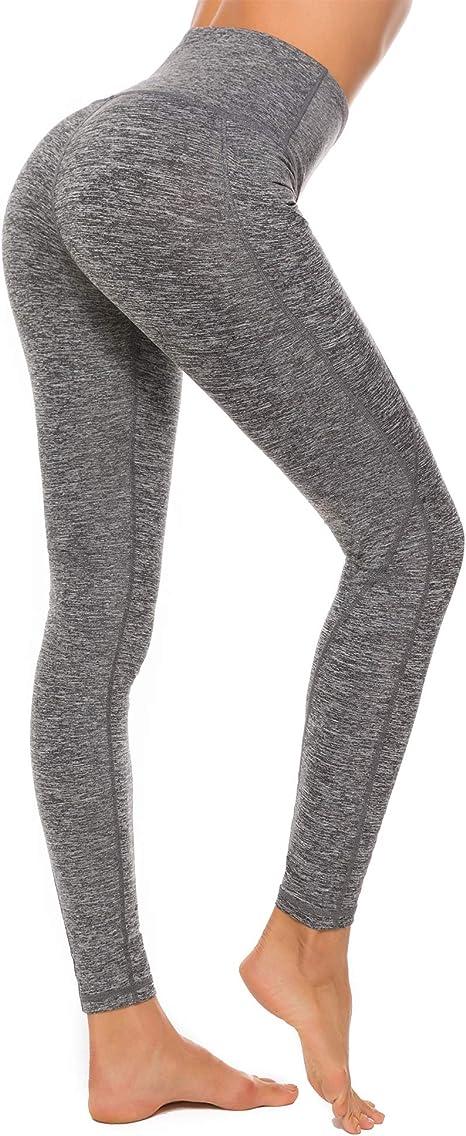Sporthose Damen High Waist Leggings Elastische Tummy Control Yogahose Laufhose