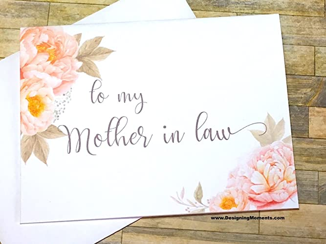 Amazon to my mother in law wedding card wedding day card to my mother in law wedding card wedding day card bridal party mother m4hsunfo