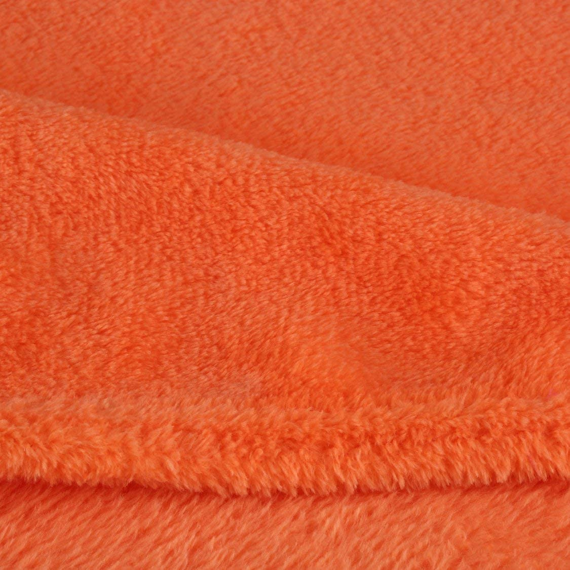 Arancione Vige Coperta per Divano Letto Matrimoniale in Corallo di Colore Solido Confortevole Coperta