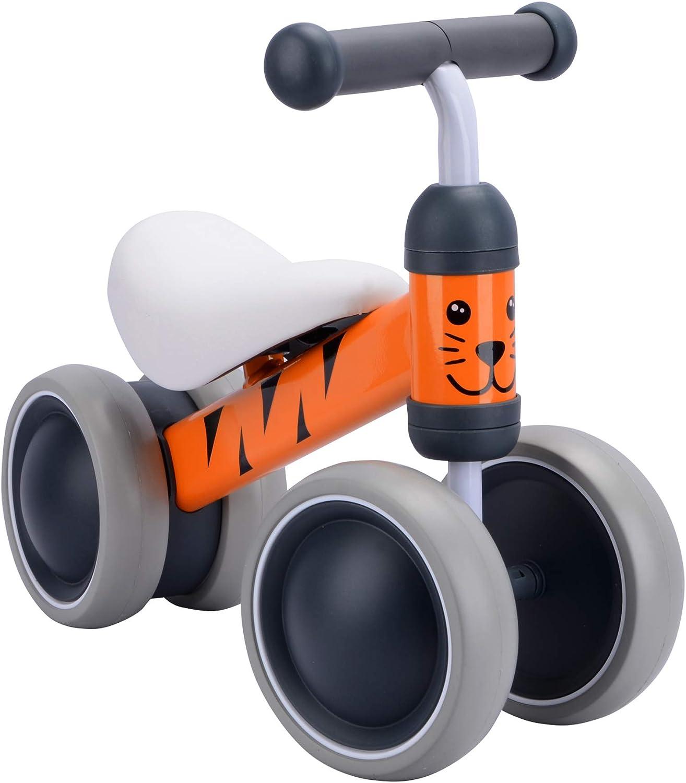 BOLDCUBE Bicicleta sin Pedales, Bici sin Pedales Niño, Juguetes Bebes 1 Año, Triciclos Bebes, Correpasillos Bebes 1 Año (Benny Tigre)