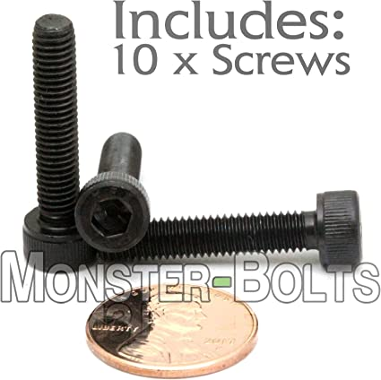 Zinc Plated Finish Fully Threaded Alloy Steel Socket Cap Screw 30mm Length Pack of 25 Internal Hex Drive Brighton Best 876152 Meets DIN 912 Imported M10-1.5 Metric Coarse Threads