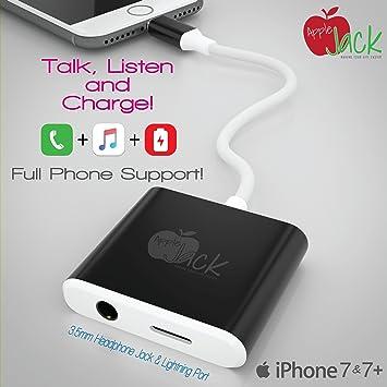 iPhone 7 y 7 Plus Lightning Cable adaptador + audio estéreo de 3,5 mm