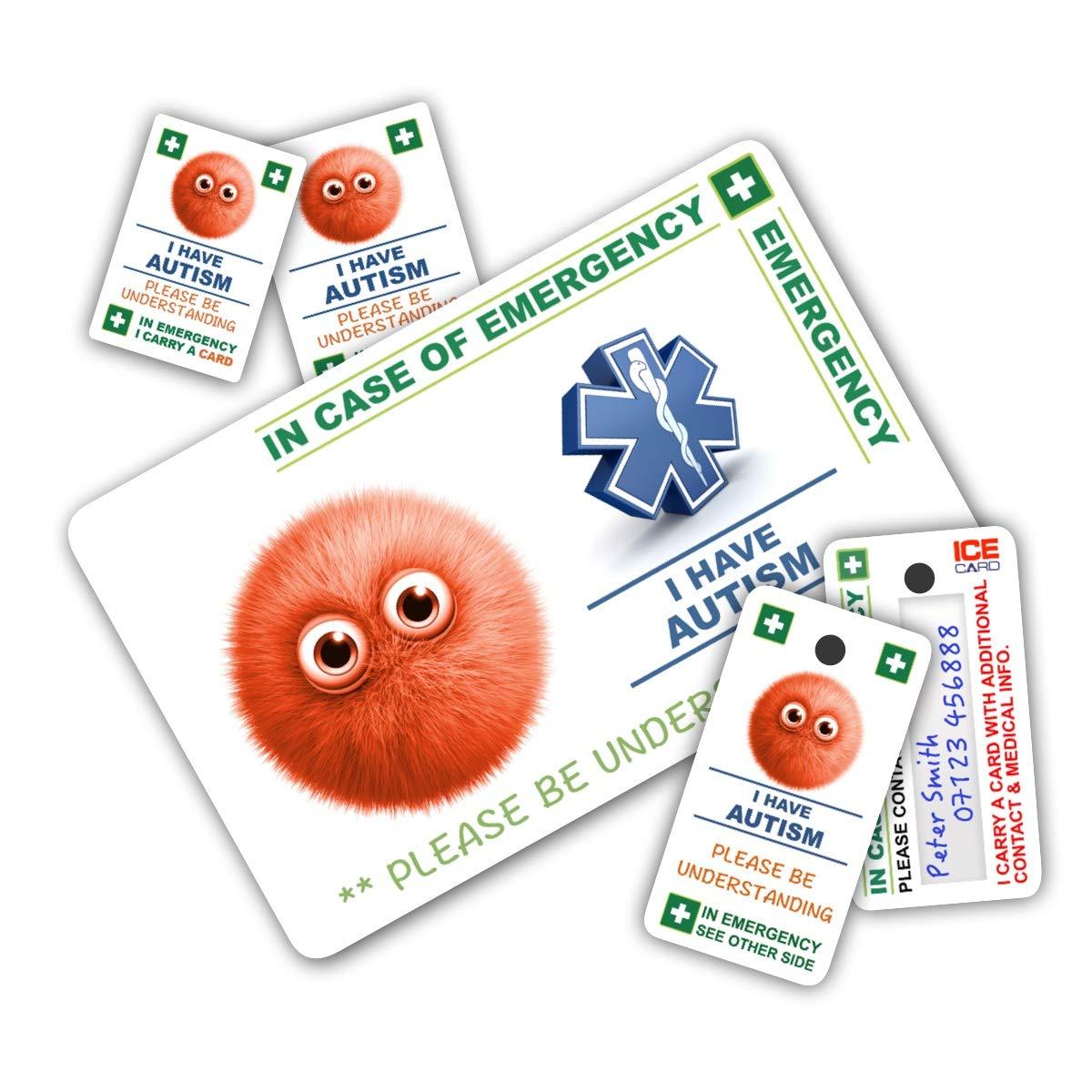 Niño autista» en caso de emergencia (E.C.E.)Paquete de tarjetas ...