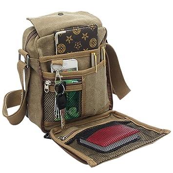 Moin Unisex bolso al hombro Ocio Messenger Bag de lona al aire libre Multi-bag de viaje: Amazon.es: Equipaje
