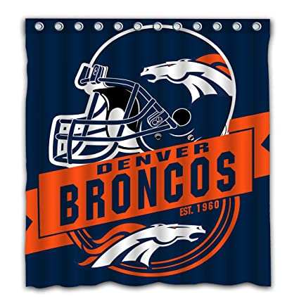 Felikey Custom Denver Broncos Waterproof Shower Curtain Colorful Bathroom Decor Size 66x72 Inches