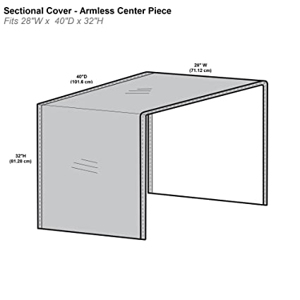 Tremendous Protective Covers Inc Modular Sectional Sofa Cover Armless Center Piece 28W X 40D X 32H Gray 1258 Pdpeps Interior Chair Design Pdpepsorg