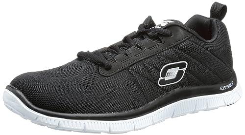 d34a409f545c Skechers Flex Appeal Sweet Spot Trainers Womens Black Schwarz (BKW) Size  3  (