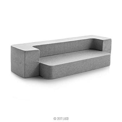 Lucid® Lucid 8 Inch Convertible Foam Mattress And Floor Sofa ...