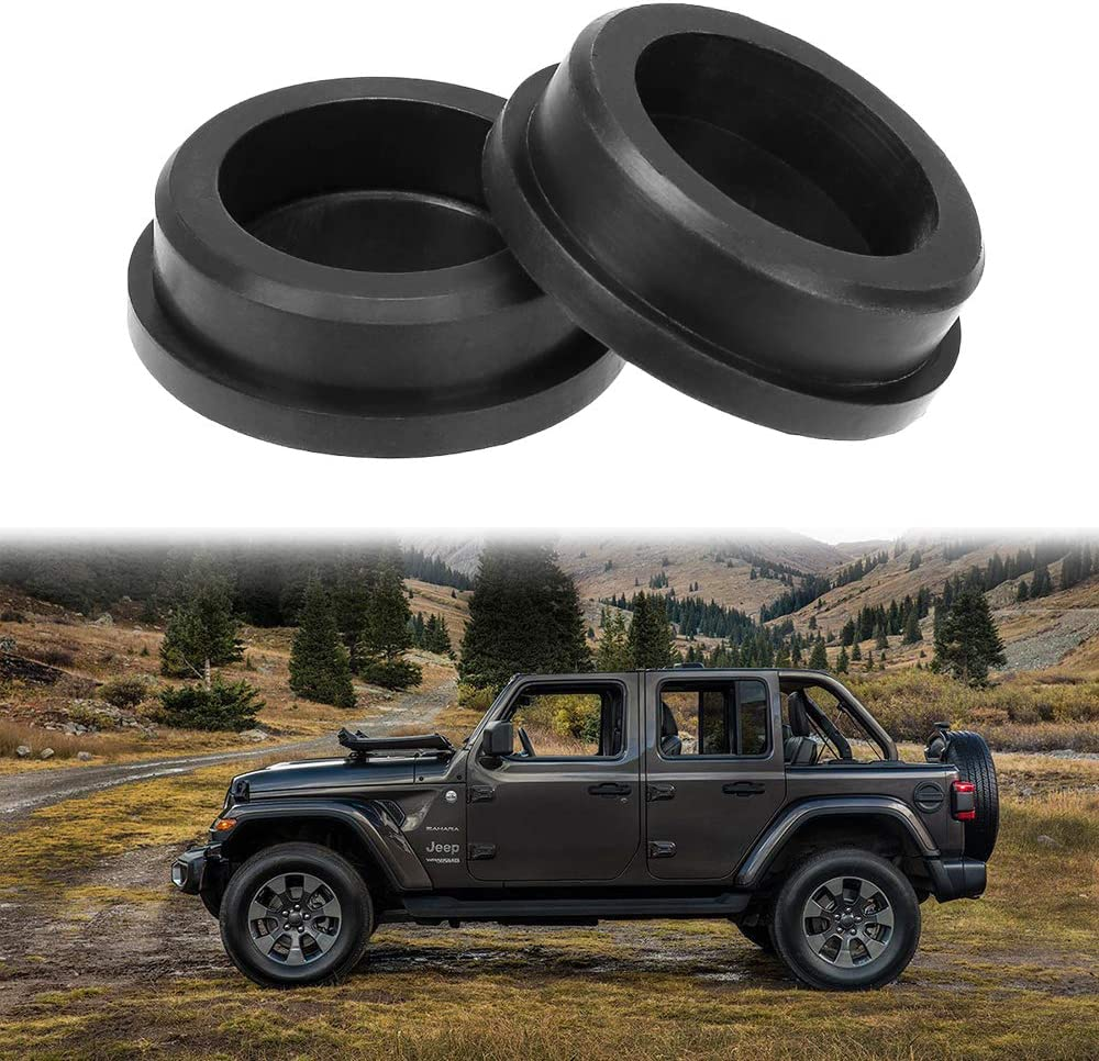 BORDAN Car Girder Rubber Plugs Cover Frame Hole Tube Plug Cover Keep Out Mud Tap Tube Hole Plug for Jeep Wrangler JL JLU 2018