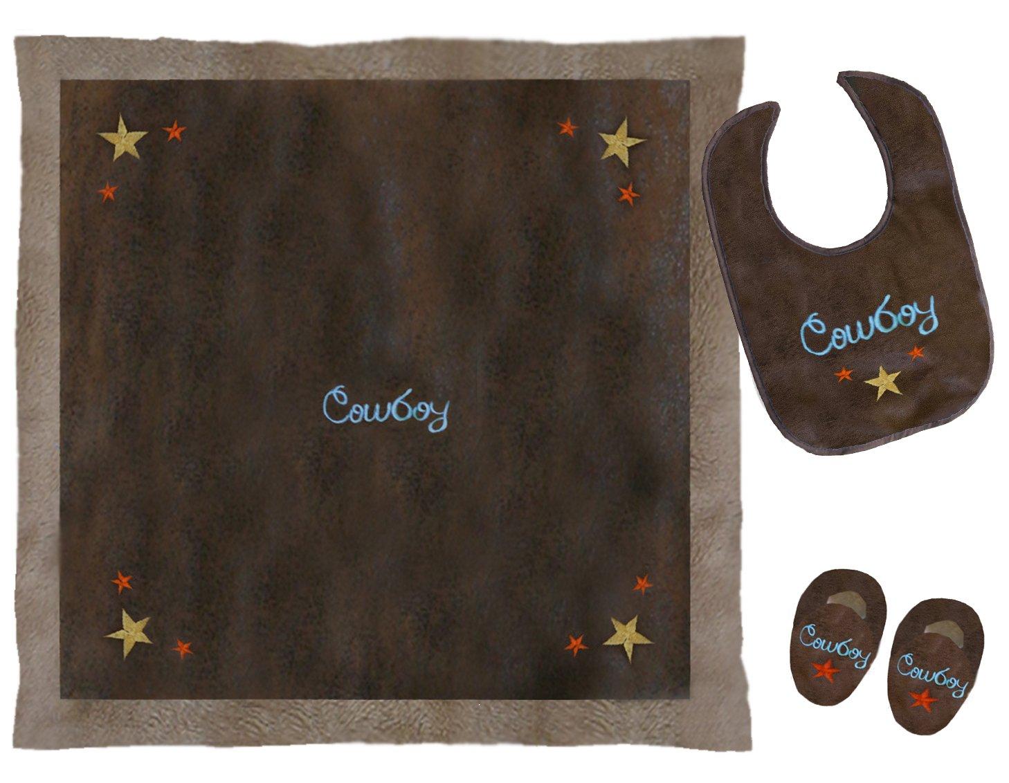 Amazon.com: Carstens Home infant-boys 'Cowboy Boxed Set ...