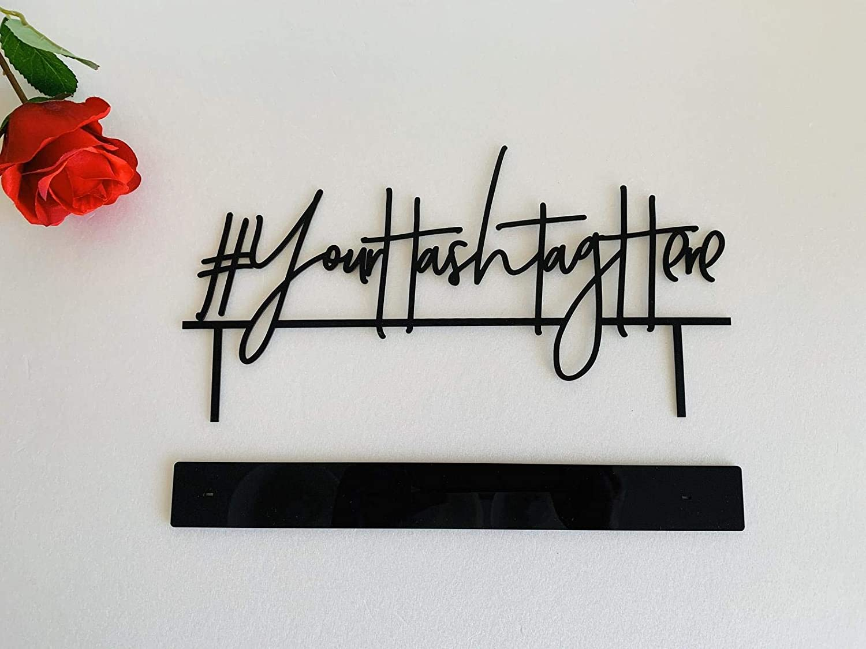 # Hashtag Schild f/ür Hochzeiten mit St/ändern Personalisiert Metall Zeichen Dekoschild Hochzeitsdekor Dein Text hier Partydekor Geburtstag Tischdekoration Buchstaben Mr und Mrs Foto Requisiten Partys