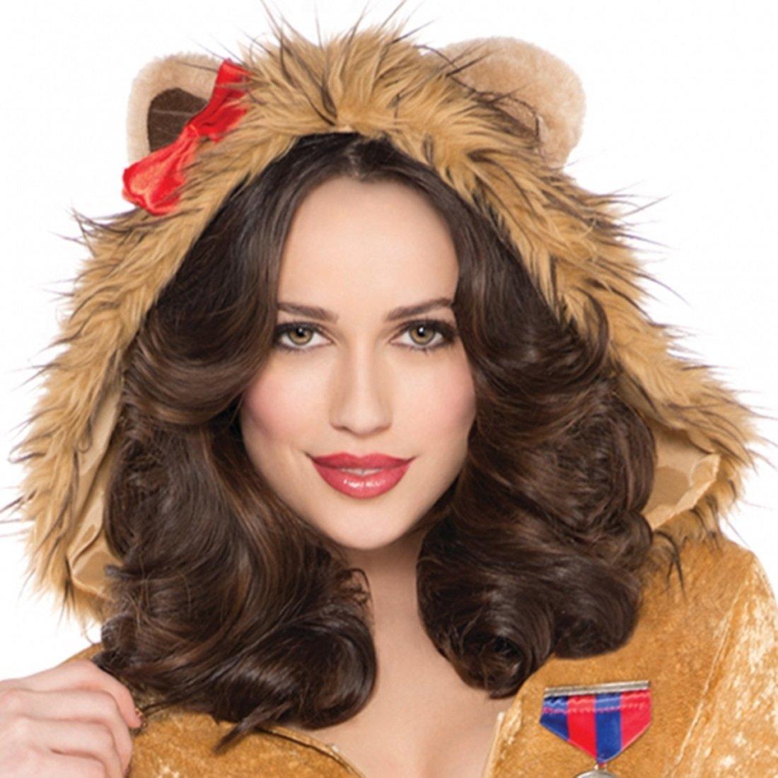 Halloweenia Erwachsene Fashion Sweet Lion Löwen Kostüm Minikleid, M, Braun Braun Braun 27c1c0