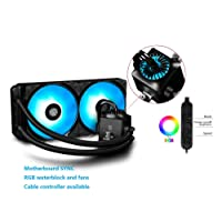 DEEPCOOL Liquid AIO CPU Cooler, Captain 240 RGB, SYNC RGB Waterblock and Fans, Cable and Motherboard Control Supported, 240mm Radiator, PWM Fans, AM4 Compatible, 3-Year Warranty