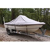 VORTEX HEAVY DUTY GREY / GRAY CENTER CONSOLE BOAT COVER FOR 18'7
