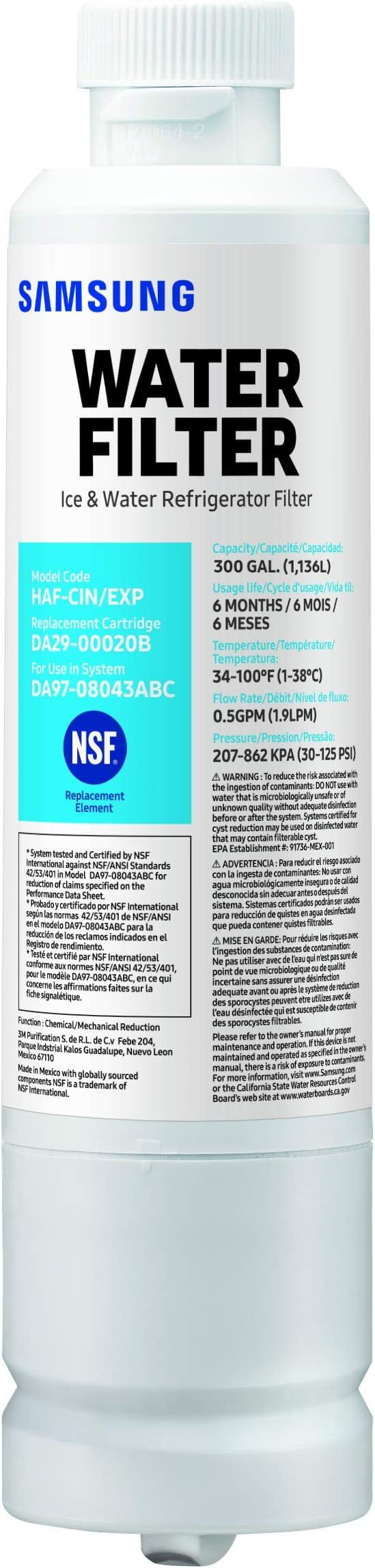 Authentique Original Equipment Manufacturer Samsung HAF-CIN #DA29-00020B Réfrigérateur Filtre à eau. NEW /& Fresh