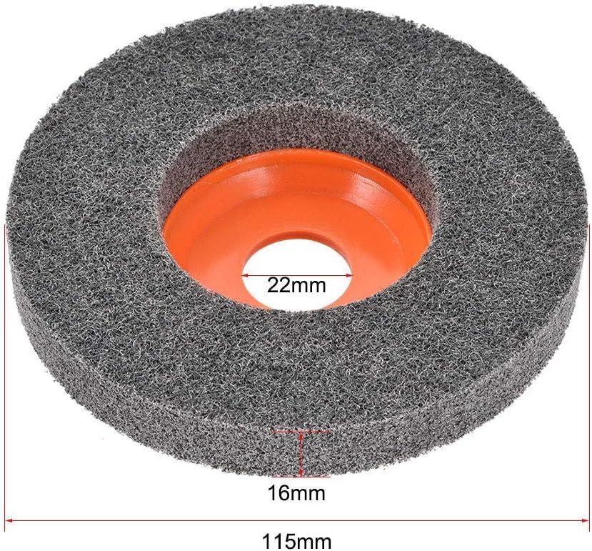 WYZXR Ruedas de Pulido de 4,5 Pulgadas Disco de Almohadilla de Pulido para 100 amoladoras angulares Naranja 5 Piezas