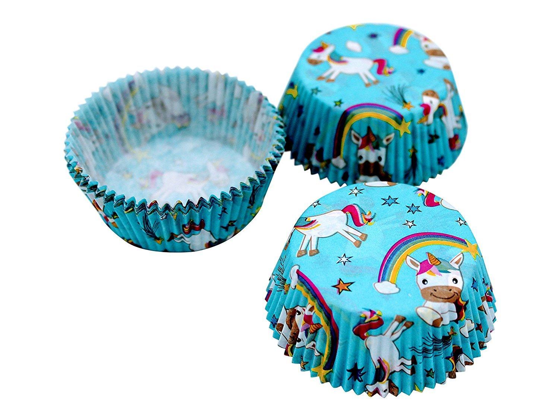 Gande Design 12 Pieza Muffin Cupcake Moldes Unicornio Magic Punky ...
